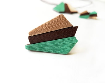 Green ring, Mint green ring, Large rings, Geometric ring, Green jewelry geometric, Gifts under 20, Unique rings for her, Brown ring