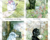 5-Pack of Beatrix Potter Illustrations #4 - Printable Digital Collage Sheets - Instant JPEG Downloads