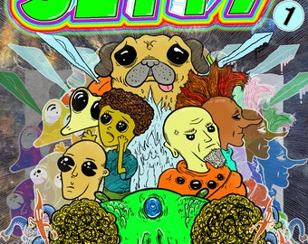 JETTY issue 1 (Digital Comics) Psychedelic Adventure/Fantastical AutoBio/Cyber Punk