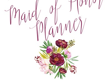 maid of honor planner pdf