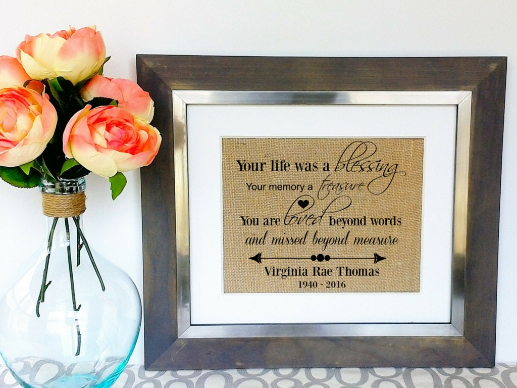 Personalized Memorial Gift Sympathy Gifts In Memory Of Father