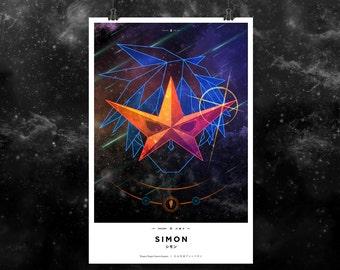 """Prisma No. 2: Simon. Gurren Lagann 12x18"""" Print"""