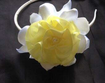 Yellow and White Alice Headband