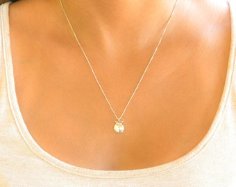silver pomegranate necklace, rosh hashanah pendant, rosh hashanah necklace, silver good luck necklace, rosh hashanah gift, sterling silver
