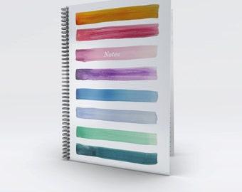 Original Design Painted Stripes A4 Notebook