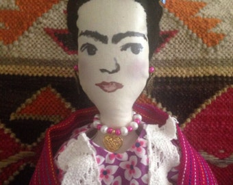 Frida Kahlo Rag Doll