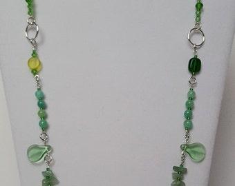 Green or Blue Goddess Necklace Set