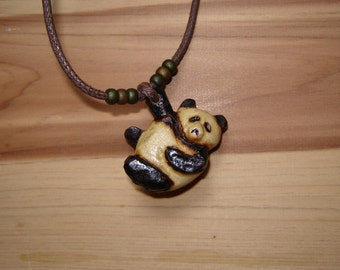Wooden Panda Necklace