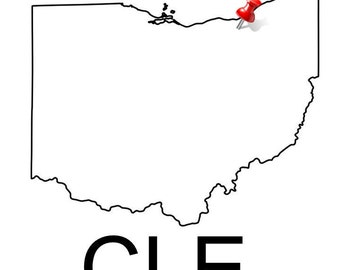 CLE - Cleveland Push Pin Printable
