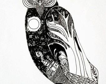 The owl full of night