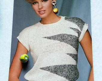 1985 Berroco Cap Sleeve Sweater Vest Knitting Pattern