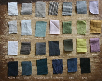 LINEN COLOUR CHART B / mid weight