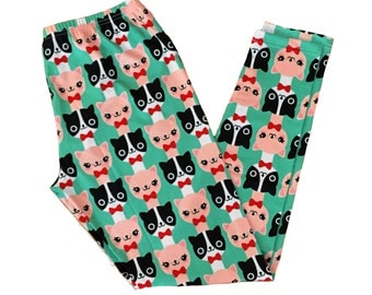 Fancy Cat Leggings - Size S-3X