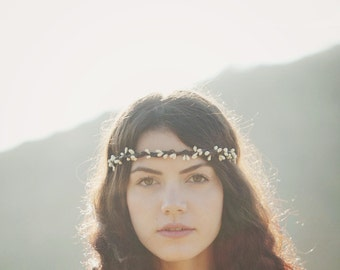 Boho bridal crown, Wedding hair accessory, Pip berry bridal crown, Harvest autumn wedding, Rustic head piece, woodland wedding crown, pip