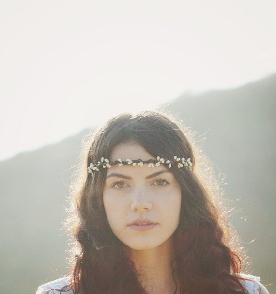 Boho bridal crown, Wedding hair accessory, Pip berry bridal crown, Harvest autumn wedding, Rustic head piece, woodland wedding crown, pip