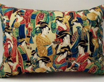 Lavender Buckwheat Throw Pillow - Geisha Neck Roll - Nursing and Lumbar Support