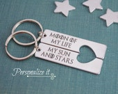 Moon of My Life, My Sun and Stars, Game of Thrones, Game of Thrones Gift, Game of Thrones Keychain, Keychain set, His and Hers, keychain