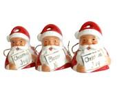 Vintage Santa Bell Porcelain Ardalt Japan Mid Century Christmas Decor