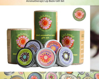 Lip Balm Gift Set, Herbal Lip Balm, Hostess Gift, Coworker Gift, Boss Gift, Best Friend Gift