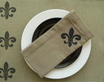 Fleur De Lis Cloth Napkins - Set of 4