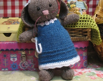 Most adorable knitted baby bunny