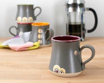 Handmade Pottery Mug, Ceramic Coffee Cup, Pottery Coffee Mug, Modern Coffee Cup, Teacup, Modern Kitchen Drinkware, Stoneware Mug