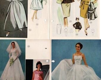 1960s Vintage Lutterloh Golden Rule Sewing Pattern Drafting Book Over 250 patterns to draft WEDDING DRESSES Bikini Coats Dresses Kids Men