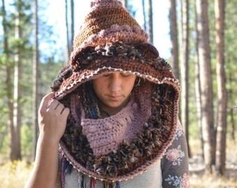 Brown Bear Crochet Spirit Hood