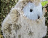Ollie Owlet Toy,Stuffed Brown White Plush Fluffy,Cuddly Shower Gift,Safe Boy Girl Toy,Cool Toy for Tots,Toddlers Toy, Easter Basket Item.