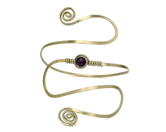 Bridal Arm Band, Upper Arm Cuff, Wire Armlet, Spiral Arm Band, Boho Chic, Upper Cuff, Silver Arm Bangle, Arm Bracelet, Arm Torc