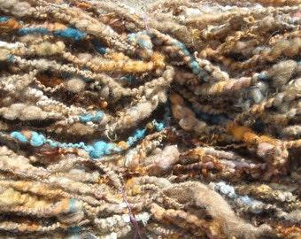 Lock spun RUSTY BUCKET handspun yarn 105 yards each skein Garden Party Fibers merino shetland wool kid mohair locks multiple skeins avail