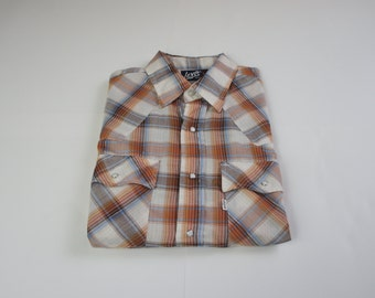 Vintage 70's Levis Pearl Snap Western Shirt - Large