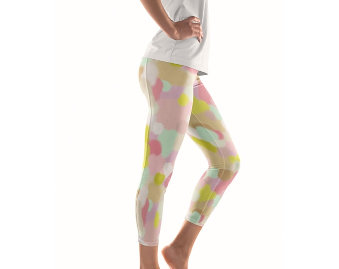 Wallflowers Artist Leggings // ethical bold stylish yoga pants designer leggings and capris in abstract painted patterns by lisa barbero