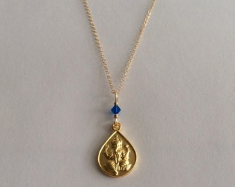 Gold Ganesha Necklace, Ganapati Pendant, Ganesha Necklace, Yoga & Spirituality Jewelry, Indira Boheme