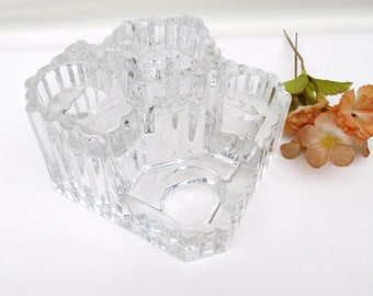 Vintage Glass Candle Holder | Candle Stand | Crystal Candleholder | 5 Tier Stand | Tealight Holder | Partylite Castle