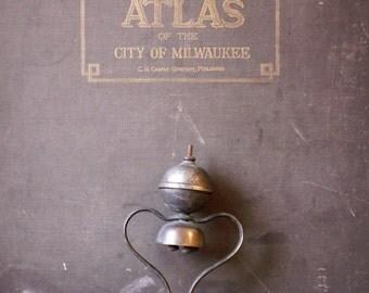 Vintage Horse Carriage Bells - Heart Shaped Saddle Mount Bells - Equestrian Decor