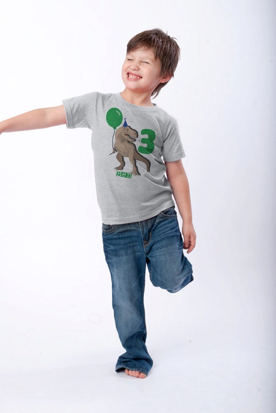 Dinosaur Birthday Shirt 3rd Birthday T-Shirt use your