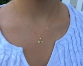 Gold Necklace, Mermaid Tail Necklace, Dainty Gold Necklace Best Friend Gifts Birthday Gift, Mermaid Jewelry, Gold Mermaid Necklace