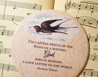 Mother Teresa Magnet, I'm a Little Pencil in the Hand of a Writing God, Blessed Teresa of Calcutta, M.C.