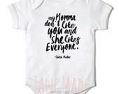 Justin Bieber My Momma Onesie Bodysuit newborn-18months