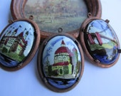 """Vintage Hand Painted """"Delft """" Cabochons"""