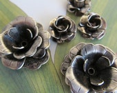 Vintage Silver Multi Layer Roses