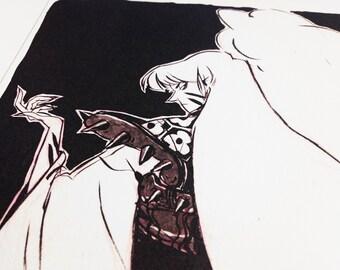 "Sesshomaru (Inuyasha) - 8.5"" x 11"" Cotton Prints"