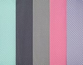 TINY TINY DOTS cotton elastane single jersey in five colors
