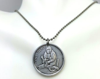 Year of the Monkey - Chinese Zodiac necklace - Monkey necklace - coin necklace - coin jewelry - Chinese New Year monkey pendant -