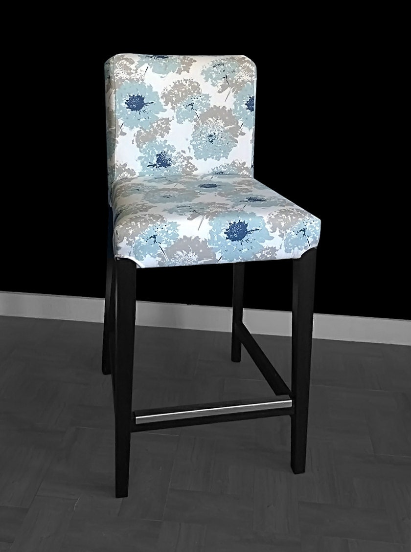 Flower Print Ikea Henriksdal Stool Chair Cover