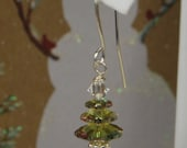 Swarovski Christmas Tree Earrings., SRAJD
