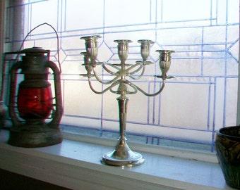 Large Vintage Candelabra 5 Light