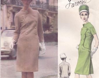 Unusual 1960s Laroche Dress Pattern Vogue Paris Original 1425 Size 12