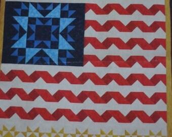 Unfurled Glory Patriotic Flag Quilt